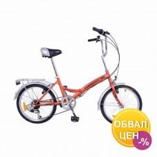 Велосипед Torrent Challenger Красный матовый (рама сталь 13 , складной, дорожный, 6 скоростей, SHIMANO, колеса 20д) 20  / 13  / Красный матовый
