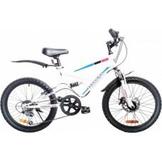 Велосипед Torrent Spider Голубой, белый (рама СТАЛЬ 14 , подростковый, 7 скоростей, SHIMANO, колеса 20д) 20  / 14  / Голубой, белый
