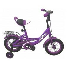Детский велосипед TORRENT Angel (добавочные колёса,1скорость, колеса 12д, рама сталь) 12  / 9,5  / Фиолетовый