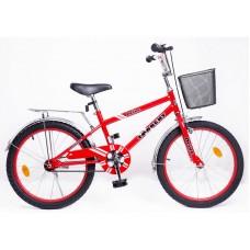 Детский велосипед TORRENT Drive (Дорожный, 1 скорость, рама сталь, колеса 20 , корзина) 20  / 11  / Красный