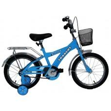 Детский велосипед TORRENT Meridian (1 скорость, добавочные колеса, рама сталь, колеса 16 , корзина) 16  / 10,5  / Голубой