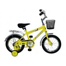 Детский велосипед TORRENT Saturn (1 скорость, добавочные колеса, рама сталь, колеса 14 , корзина) 14  / 9,5  / Желтый