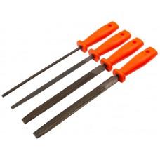 Напильник 200мм 4шт пластиковая ручка (40шт/уп)