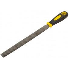 Рашпиль, прорезиненная ручка 200мм, полукруглый (12/144шт/уп)