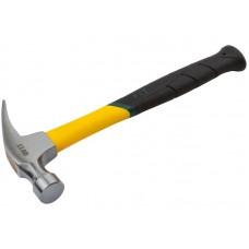 Молоток-гвоздодер 450гр фиброглассовая усиленная ручка Профи (27мм) (6/36шт/уп)