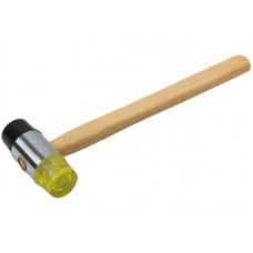 Молоток-киянка резина/пластик, деревянная ручка 35мм (30/60шт/уп)