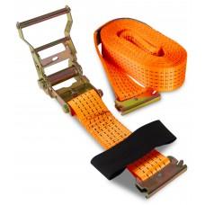 Ремень для крепления груза Дед Банзай 50мм*6м ( 2т., полиэстер, сталь) Е-образные крепления (рельсовый механизм  ласточка ) (10)
