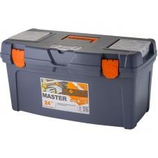 Ящик для инструмента Master 24  61х31,5х31см серо-свинцовый/оранжевый (4)