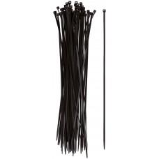 Хомуты нейлоновые черные 50 шт 300x3,6мм