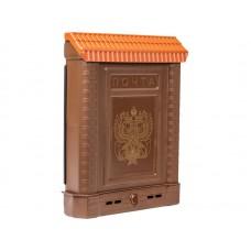 Ящик почтовый Премиум пластиковый внутренний, с накладкой с орлом (с декоративной накладкой)