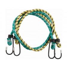 Шнур крепежный резиновый 600х7мм со стальными крюками, 2шт (50шт/уп)