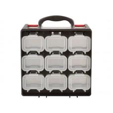 Ящик для крепежа 34х28,5х14,5см двухсекционный съемные ячейки (8шт/уп)