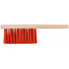 Щетка-сметка, искусств. щетина, деревянная ручка, 3-х рядная, 280 мм