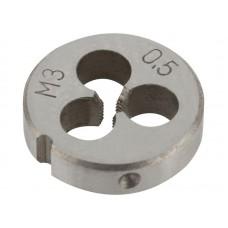 Плашка метрическая 3х0,5мм легированная сталь (375/750шт/уп)