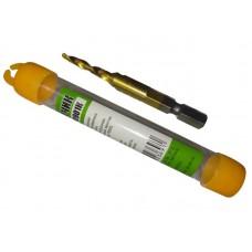 Сверло-метчик M4*0.7мм Быстрорежущая сталь P6M5, титановое покрытие (70901K)