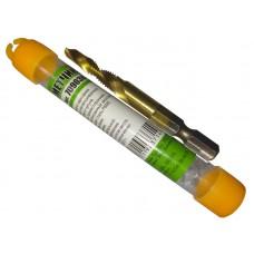 Сверло-метчик M6*1.0мм Быстрорежущая сталь P6M5, титановое покрытие (70903K)