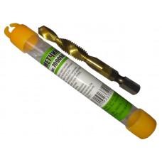 Сверло-метчик SHERSHEN M8*1.25мм Быстрорежущая сталь P6M5, титановое покрытие (70905K)