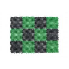 Коврик травка 56*84см черно-зеленый, полиэтилен (10)