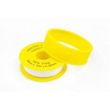 Фум-лента 10м*12мм*0,06мм, желтая Арт.963