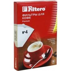 Filtero фильтры для кофе, №4/40, белые для кофеварок с колбой на 8-12 чашек