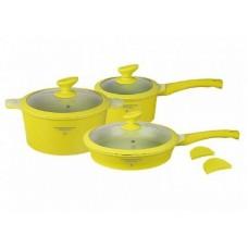 Посуда Набор посуды с покрытием под мрамор  MercuryHaus , MC - 6360 (2) 8 предметов 4,5/2,6/2,0 л (-)