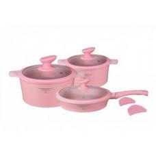 Посуда Набор посуды с покрытием под мрамор  MercuryHaus , MC - 6365 (2) 10 предметов 7,3/2,7/2,6 л (-)