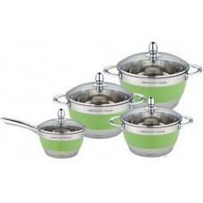 Посуда Набор посуды  MercuryHaus , MC - 7015 (2) 8 предметов 4,9/2,9/2,1/1,5 л  24/20/18/16 см (-)