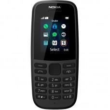Nokia 105 SS TA-1203 Black Мобильный телефон