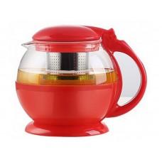 Чайник из стекла и пластика 650 мл с ситом из нержавеющей стали TC-304